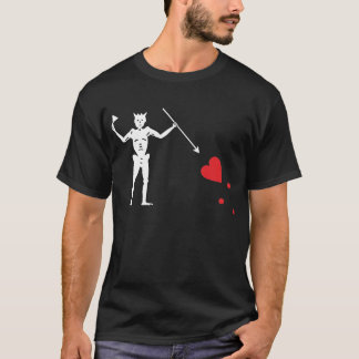 T-shirt Drapeau de pirate Blackbeard, Edward Teach
