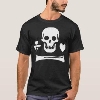 T-shirt Drapeau de pirate des Stede Bonnet