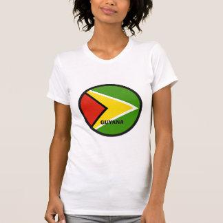 T-shirt Drapeau de qualité de rondeau de la Guyane