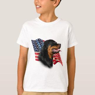 T-shirt Drapeau de rottweiler
