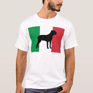 T-shirt drapeau de silhouette de corso de canne