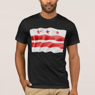 T-shirt Drapeau de Washington DC ondulant - District de