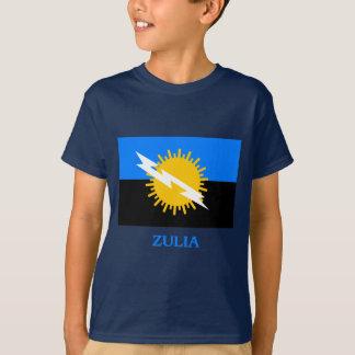 T-shirt Drapeau de Zulia avec le nom