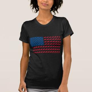 T-shirt DRAPEAU des Etats-Unis de berger allemand