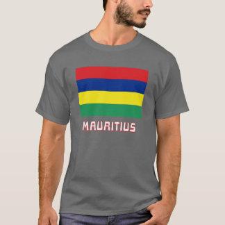 T-shirt Drapeau des Îles Maurice avec le nom