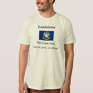 T-shirt Drapeau d'état de la Louisiane