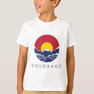 T-shirt Drapeau d'état de montagne rocheuse du Colorado
