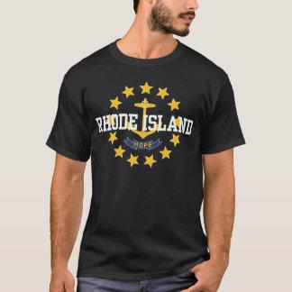 T-shirt Drapeau d'état d'Île de Rhode