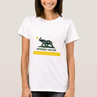 T-shirt Drapeau d'état d'Oakland (lumière)