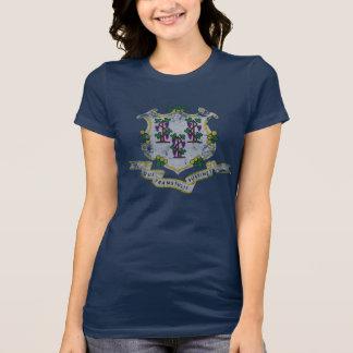 T-shirt Drapeau d'état du Connecticut