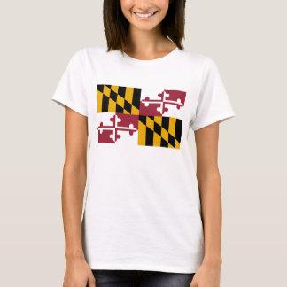 T-shirt Drapeau d'état du Maryland