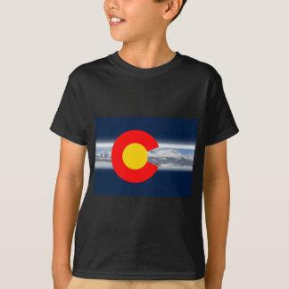 T-shirt Drapeau du Colorado avec des montagnes