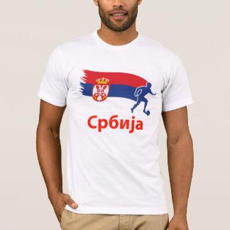 T-shirt Drapeau du football de la Serbie