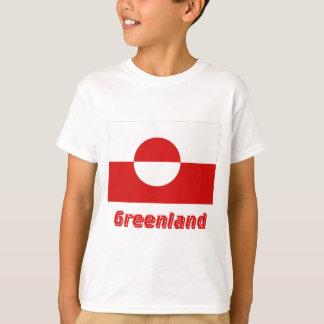 T-shirt Drapeau du Groenland avec le nom