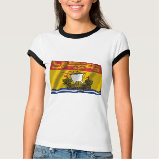 T-shirt Drapeau du Nouveau Brunswick, Canada