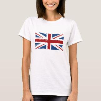 T-shirt Drapeau d'Union Jack dans les griffonnages