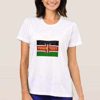 T-shirt Drapeau fait sur commande du Kenya