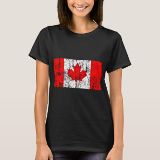 T-shirt Drapeau fané du Canada