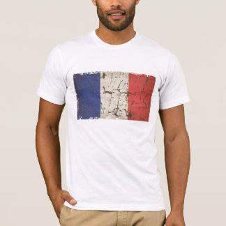 T-shirt Drapeau français affligé