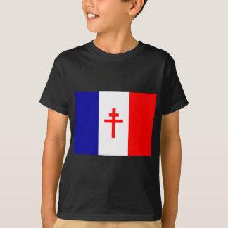 T-shirt Drapeau français libre de forces