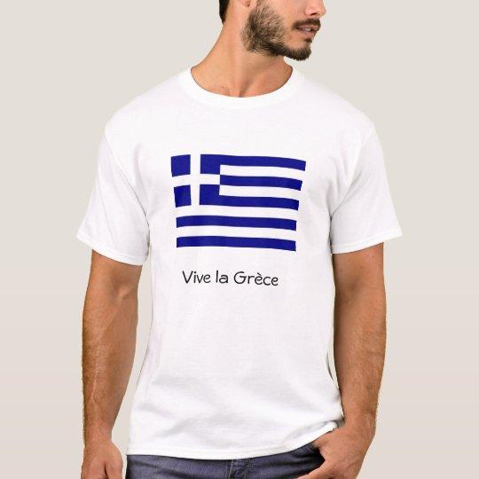 T-shirt Drapeau grèce