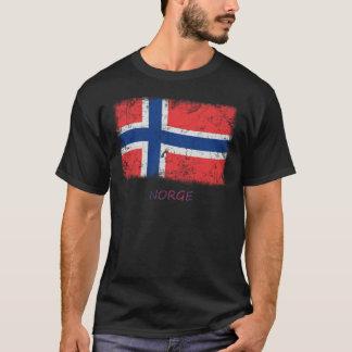 T-shirt Drapeau grunge de la Norvège