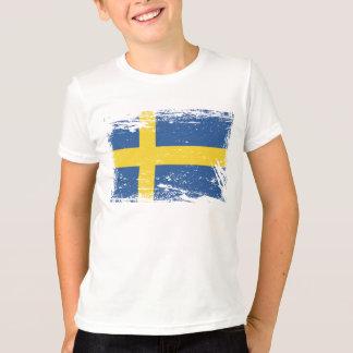 T-shirt Drapeau grunge de la Suède