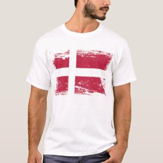 T-shirt Drapeau grunge du Danemark