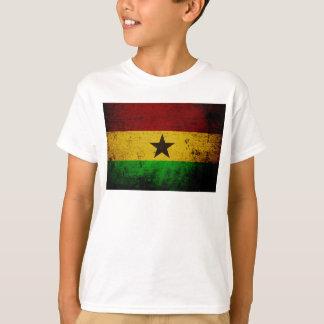 T-shirt Drapeau grunge noir du Ghana