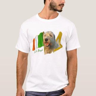 T-shirt Drapeau irlandais et harpe de chien-loup irlandais