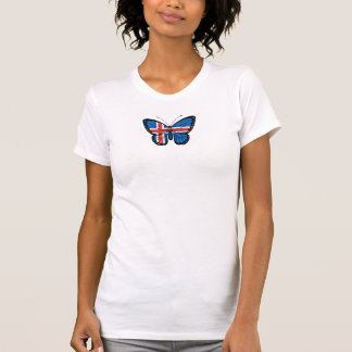 T-shirt Drapeau islandais de papillon