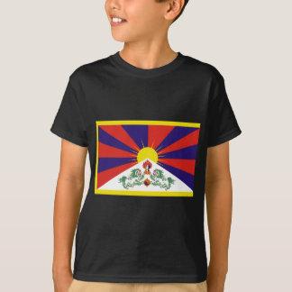 T-shirt Drapeau libre du Thibet - ་ de བཙན de ་ de རང de ་
