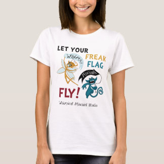 T-shirt Drapeau lunatique de phénomène de préjudice