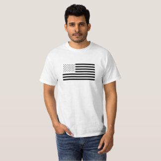 T-shirt Drapeau noir et blanc des USA