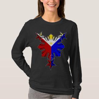 T-shirt Drapeau philippin Sun et étoiles