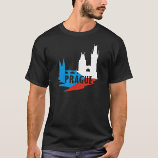 T-shirt Drapeau Prague