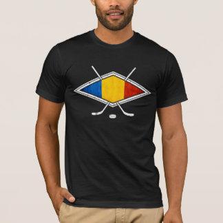 T-shirt Drapeau roumain de hockey sur glace