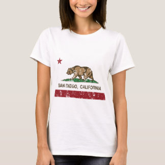 T-shirt drapeau San Diego de la Californie affligé