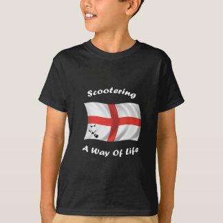 T-shirt drapeau scootering de mode de vie