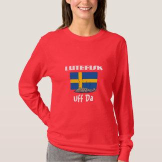 T-shirt Drapeau suédois drôle de Lutefisk Uff DA avec des