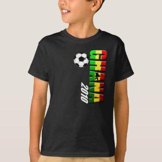 T-shirt Drapeau vertical de logo du football du Ghana du
