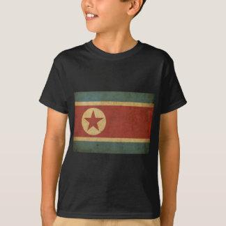 T-shirt Drapeau vintage de la Corée du Nord
