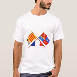 T-shirt Drapeaux croisés de PACA et de Vaucluse