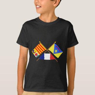 T-shirt Drapeaux croisés de Provence-Alpes-Côte d'Azur et