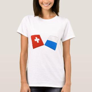 T-shirt Drapeaux de la Suisse et de la luzerne
