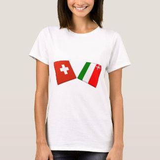 T-shirt Drapeaux de la Suisse et de Neuchâtel