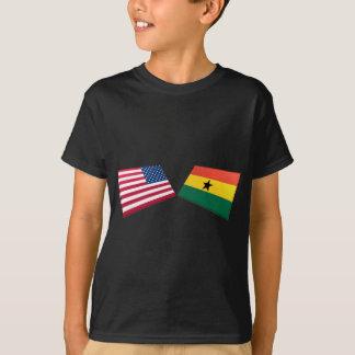 T-shirt Drapeaux des USA et du Ghana