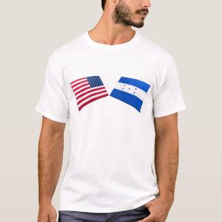 T-shirt Drapeaux des USA et du Honduras