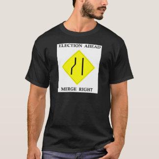 T-shirt Droite de fusion d'élection en avant