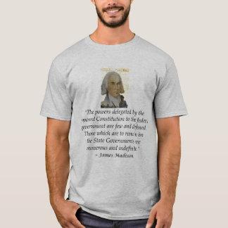T-shirt Droites d'états de James Madison déclaration des